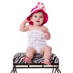 Adorable Toddler Sun Hat with Floral Accent - see all colors!